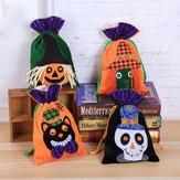 Halloweenowa torba na cukierki czekoladowe dla dzieci Aksamitna torba prezentowa