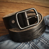 Genuine Leather Men's Belt Casual Waistband Waist Strap Smooth Pin Retro Belt