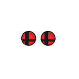 2Pcs Anti-slip Silicone Rocker Button Cap Joystick Cover Cap for Nintendo Switch NS Game Console Red
