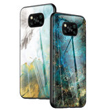 Bakeey for POCO X3 NFC Case Marble Pattern Colorful Tempered Glass Shockproof Scratch-Resistant Protective Case Non-original