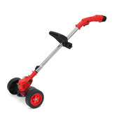 24V 1300W Electric Cordless String Trimmer Lawn Mower W/ Wheels Weed Eater Garden Grass Cutting Tool W/ 1/2pcs Battery