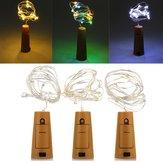 Batarya Powered 20 LED'ler Xmas Partisi için Mantar Şekilli LED Gece Starry Light Şarap Şişesi Lamba LED'ler