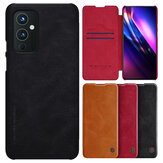 Nillkin for OnePlus 9 Case Bumper Flip Shockproof with Card Slot PU Leather Full Cover Protective Case