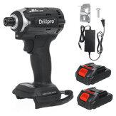 Ηλεκτρικό κατσαβίδι Drillpro 18V 3 Light Brushless 3 Speeds Επαναφορτιζόμενη κατσαβίδι με μπαταρία 1 / 2pcs