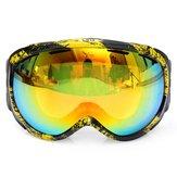 للجنسين مكافحة الضباب أوف عدسة مزدوجة الشتاء سباق أوتوورس الجليد تزلج نظارات الشمس غلاسيس CRG98-5A