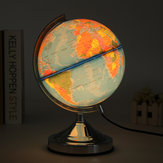 Electronic Illuminated Ocean World Earth Globe Rotating Night Light Desktop Decorations