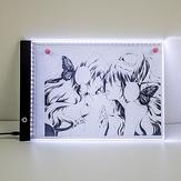 A3LEDライトパッドトレースステップレス/ 3ギア調光可能明るさダイヤモンドペインティングボードスケールアート付きコピーパッドライティングスケッチLEDライトアートボード420 * 300 * 4mm