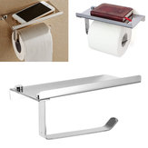 Polished Chrome Stainless Steel Bathroom Toliet Paper Book Phone Holder