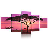 Grande Sunset & Tree Canvas Print Wall Art Pittura Immagine NO Frame Home Decorations