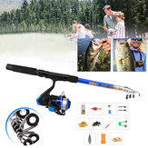 ZANLURE 13pcs/set Fishing Rod Reel Combo Telescopic 5.2:1 BB Fishing Rod Set Ultralight Fishing Tackle Fishing Rod Fishing Reel Fishing Tool Set