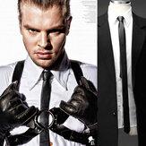 Męski krawat ze sztucznej skóry w modzie na wszystkie mecze
