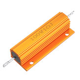 10pcs RX24 100W 1R 1RJ Metal Aluminum Case High Power Resistor Golden Metal Shell Case Heatsink Resistance Resistor