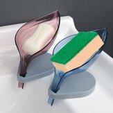 Forme de feuille Boîte de vidange de savon Porte-savon Porte-ventouse Toilette Receveur de douche Egouttoir Rack Fournitures de salle de bain