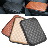 Universal Coche Auto Armrest Pad Cover Center Console Caja Leather Cushion 3-Colors
