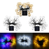 Solar Power 4.5m 20LED Wodoodporny Fairy Holiday Light String Garden Wedding Party Christmas Decor
