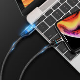 Floveme 3A Type C Micro USB LED Indicator Magnetic Fast Charging Data Cable For HUAWEI P30 MI9 S10 S10+