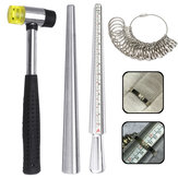 Ring Sizer Mandrel Jewelers Rubber Hammers Ring Mandrel Sizer with Ring Sizer Guage kits