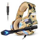 Игровая гарнитура KOTION EACH G7500 HD Регулируемый звук Микрофон Прочная громкость Провод для PS3/4 Xbox PC