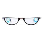 Leitura de filme de resina anti-azul Óculos Presbiópico dobrável em forma de concha Óculos com armazenamento Caso
