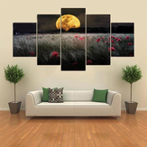 5 Cascade The Setting Sun Flowers Canvas Wall Painting Picture Décoration intérieure sans cadre Inclu