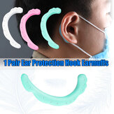 1 Pair x Silicone Earhooks Anti-stroke Mask Hook Tool Ear Pain Release Earloops Cover