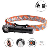 XANES T6 1500Lumens 3Modes LED Headlamp Flashlight Rechargeable Zoomable Magnetic Work Light