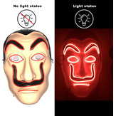 Dali Halloween Luminous Mask Horror LED Party Props Cosplay Ghost Clown Funny Mask Cosplay Decoration