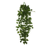 2 Bunch 4ft Artificial Silk Scindapsus Ivy Leaf Garland Plant Vine Foliage Garden Home Decorations
