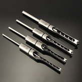 Drillpro 6.35/7.94/9.5/12.7mm Wood Working Square Hole Drill Bit Mortising Chisel 1/4 to 1/2 Inch