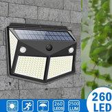 ARILUX 260LED Luz Solar Externa IP65 Movimento Impermeável Sensor Luz Solar Jardim Pátio Iluminação de Segurança de Passagem Preto