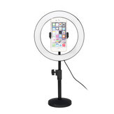 6500K 120 LED Ring ضوء Dimmable Kit Stand هاتف Clip for فيديو Studio Make Up