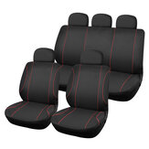 9PCS Fabric Universal Car Seat Covers Full Set Protectors Cushion Front Rear