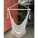 Uitschuifbare mesh geweven hangmat kwast hangende mand belasting 120 kg voor binnen buiten woonkamer balkon