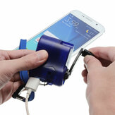 USB Hand Crank Power Generator Emergency Digital Display Phone Charger Manual Shake Charger Blue
