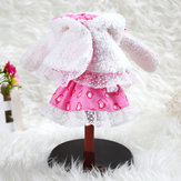 BBGirl 30cm 35cm BJD Doll Dress Konijn Hood Party Mode Kleding DIY Accessoires Toy