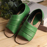 Women Casual Summer Open Toe Slip On Sandals