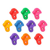 10 unids Plástico Colorful Textured Climb Rock Wall Stones Niños Assorted Holds Ascendente ascendente