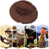 AntiBeeKappeCowboyHutBeeholding schützende Hut Beehüter Werkzeug Anti-Insekten-Netz