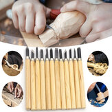 12Pcs Wood Carving Tool Kit Woodworking Tools Chisel Knife Wood Gouge Hand Engraving Machete Angle Cutter DIY Tools