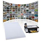 20 Blätter x A4 Glanz glänzendes Fotopapier für Tintenstrahldrucker 210mm x 297mm Weiß