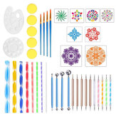 41Pcs Acrylique Nail Art Dotting Pen Art Mandala Manucure Peinture Tool Kit Set