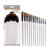 12PCS/Set Artist Paint Brushes Set Oil Watercolour Painting Craft Art Stationery School Students Art Supplies