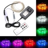 10M 100 LED Silver Wire Waterproof Fairy String Light Xmas Lamp With Adapter Remote