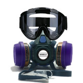 DEWBest 6201xHS699 Reusable Respirator Mask Black Protective Glasses Set