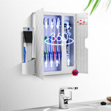 UV Light Toothbrush Sterilizer Holder Razor Shaver Toothpaste Bucket Sterilizer for Home Bathroom Set