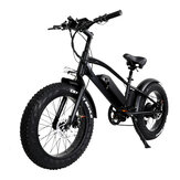 [EU DIRECT] CMACEWHEEL T20 Moped Electric Bicycle Double Battery 10Ah 750W 20*4in Fat Tire Electric Bike Max Speed 45km/h Mileage 120km E-Bike