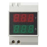 Szyna Din LED AC 80-300V 0-100,0A Volt Meterr Amperomierz Aktywny Miernik energii czasu i mocy