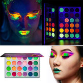 Palette di ombretti 24 colori Waterproof Glow Eyeshadow Palette Neon Glow in The Dark Ombretto luminoso per festival / feste / Halloween / Natale