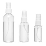1-10pc 30/50/100ML Empty Clear Plastic Spray Bottle Travel Mini Perfume Atomizer