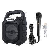 Alto-falante portátil sem fio bluetooth externo com microfone FM rádio estéreo à prova d'água Suporte para caixa de som AUX / USB / TF / FM